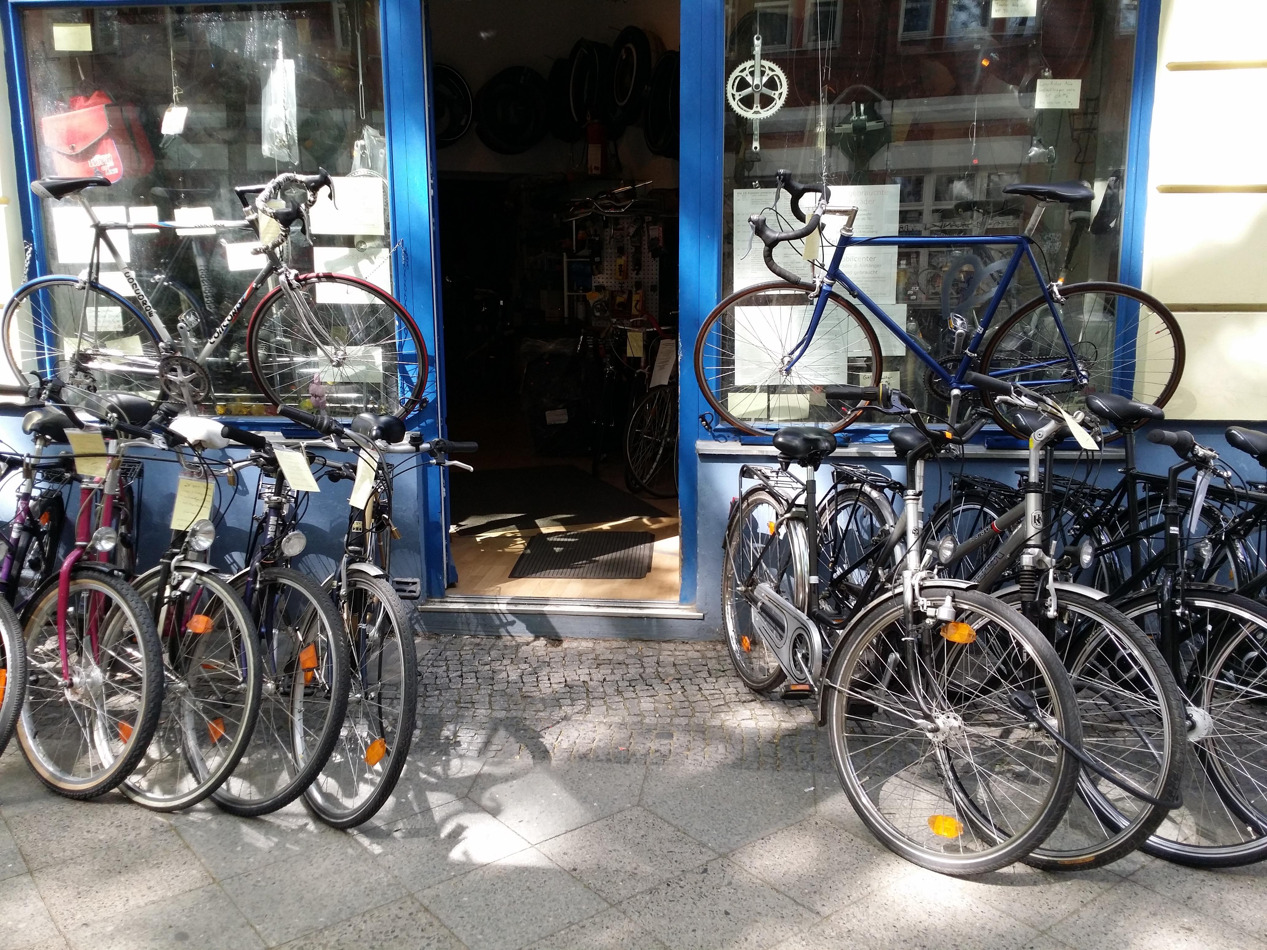 Der Eingang vom Fahrradladen Mobilcenter