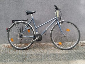gebrauchtes blaues Damenrad