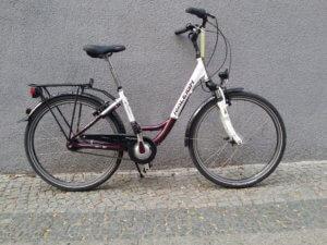 Damenrad mit tiefen Einstieg