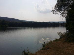 Im Pfordter See kann man auch baden