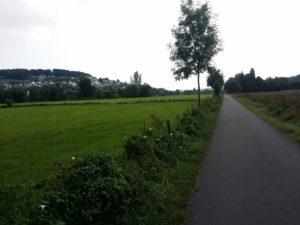 Kurz vor Fulda ist es sehr eben