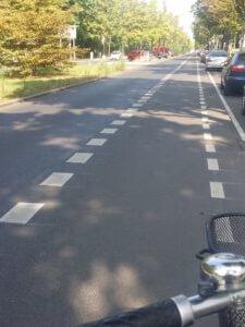 4. Fahrradspur Rixdorfer Strasse