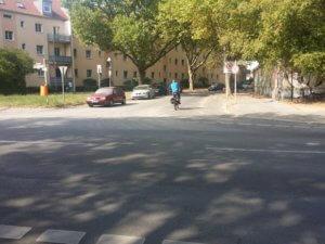 6. Abbiegen in die Eschersheimer Strasse