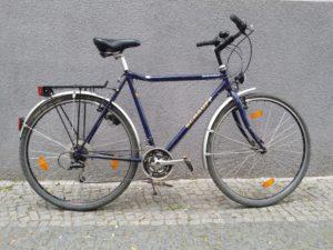 Gebrauchtes blaues Herrenrad