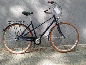 Blaues Damenrad