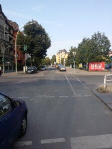 7. Weiter über die Silbersteinstrasse in die Oderstrasse