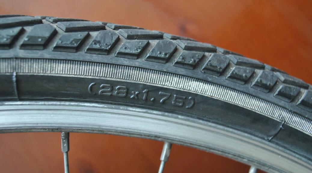 Reifengröße vom Fahrrad