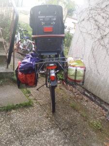 Ausklappbare Fahrradkörbe